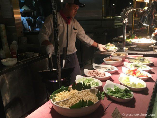 Made to order mie goreng at Padma Resort Legian Theme Dinner