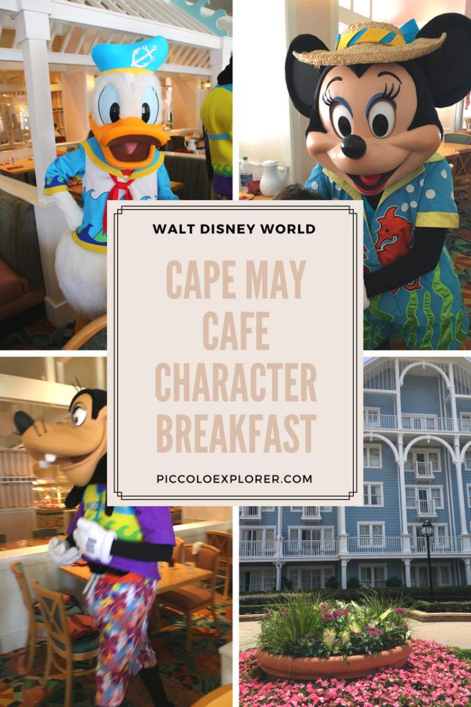 Cape May Cafe Character Breakfast Walt Disney World
