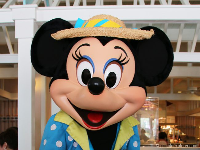 Minnie Mouse at Cape May Cafe Character Breakfast