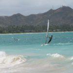 Windsurfing at Kailua Beach Park, Oahu