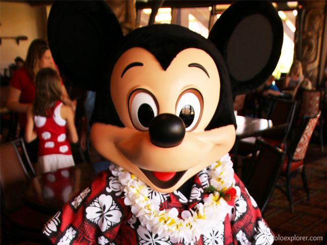 Mickey Mouse at 'Ohana Character Breakfast