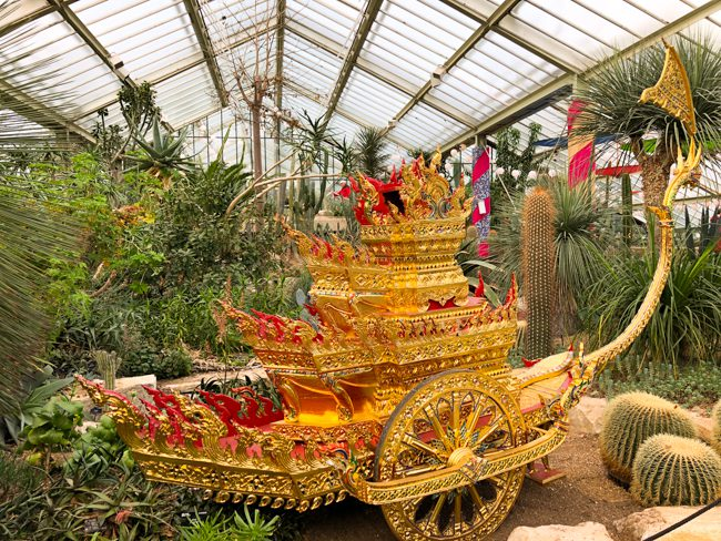 Kew Gardens Orchid Festival Thai cart