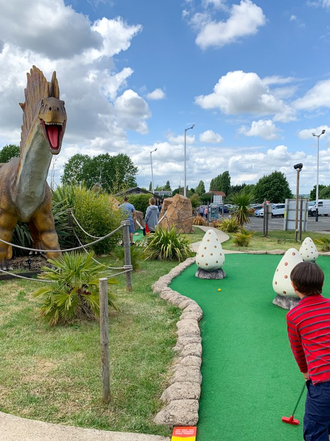 London family day out golf
