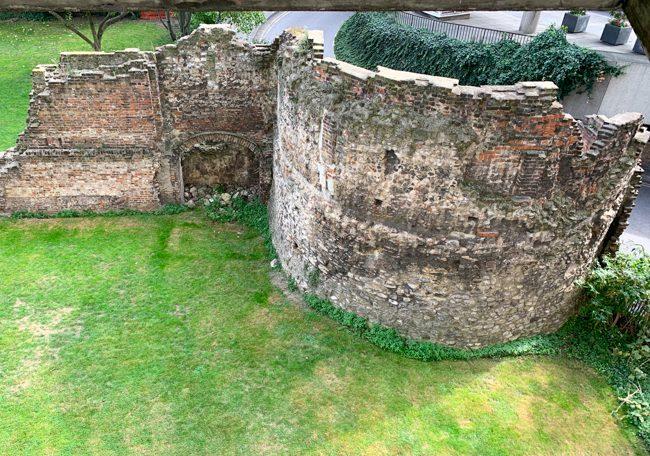 Ancient Roman wall, City of London