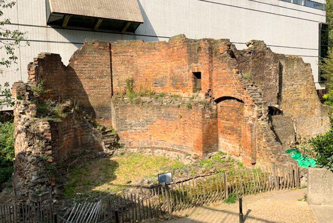 Ancient Roman wall in London