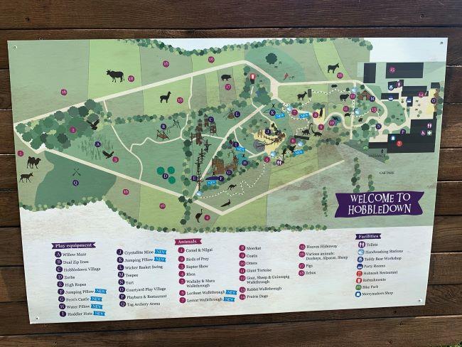 Map of Hobbledown Park