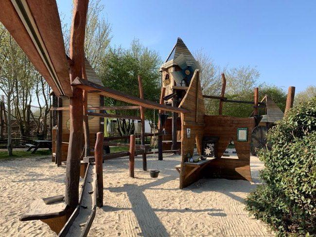 Mining play village at farm park