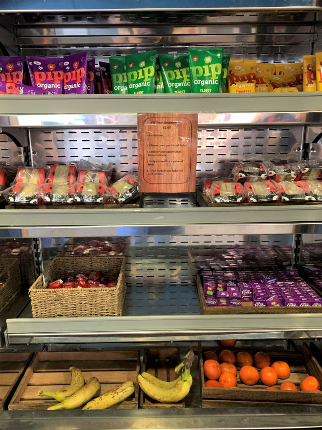 Lunch box items at Hobbledown cafe