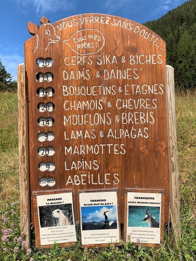 List of animals at Merlet Animal Park