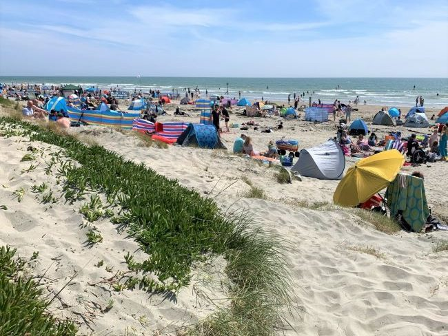 Bank holiday at West Wittering Beach