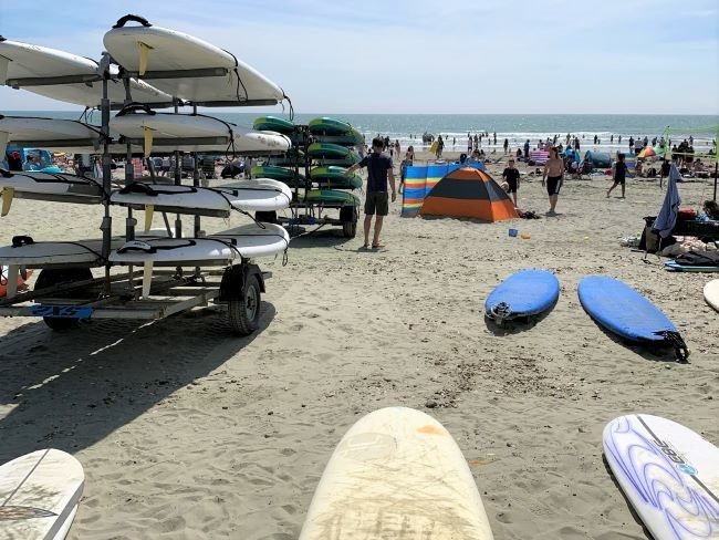 Surfboards at West Wittering Beach