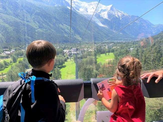 Gondola ride to La Flegere Chamonix