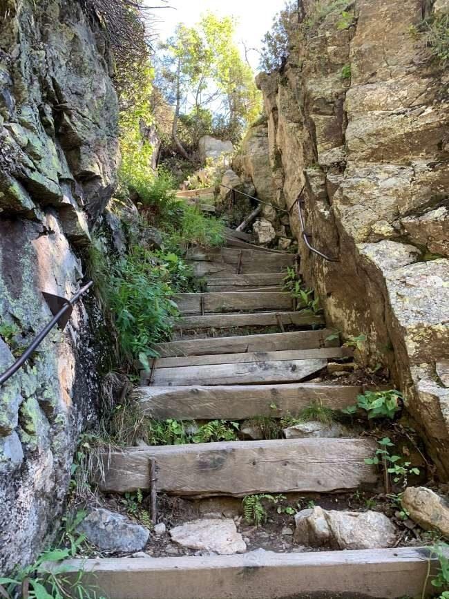 Steep steps Chamonix hike