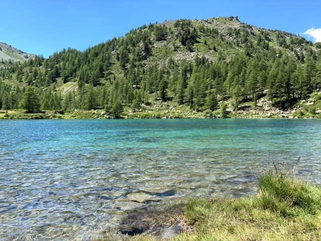 Mountain lake in Italian Alps