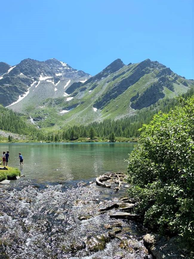 Hiking to Lake Arpy in Aosta valley