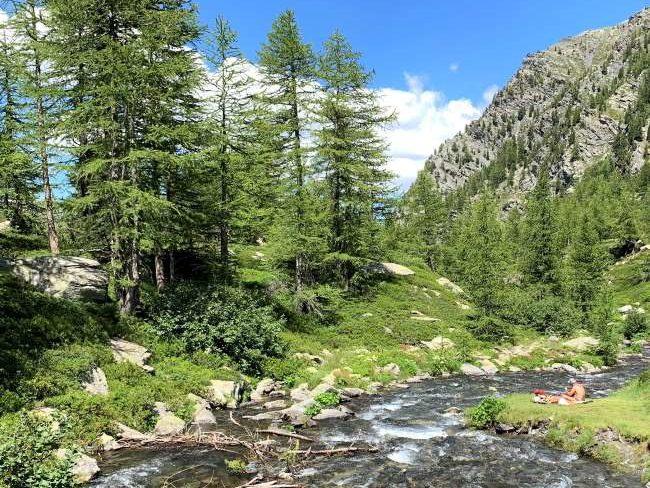 Morgex Lago d'Arpy Aosta valley
