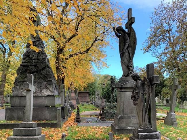 Autumn at Brompton Cemetery London