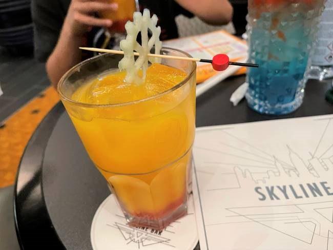 Non-alcoholic drinks at Skyline Bar