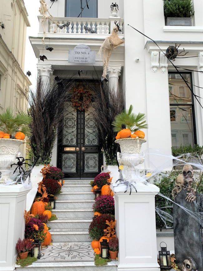Notting Hill Halloween decorations