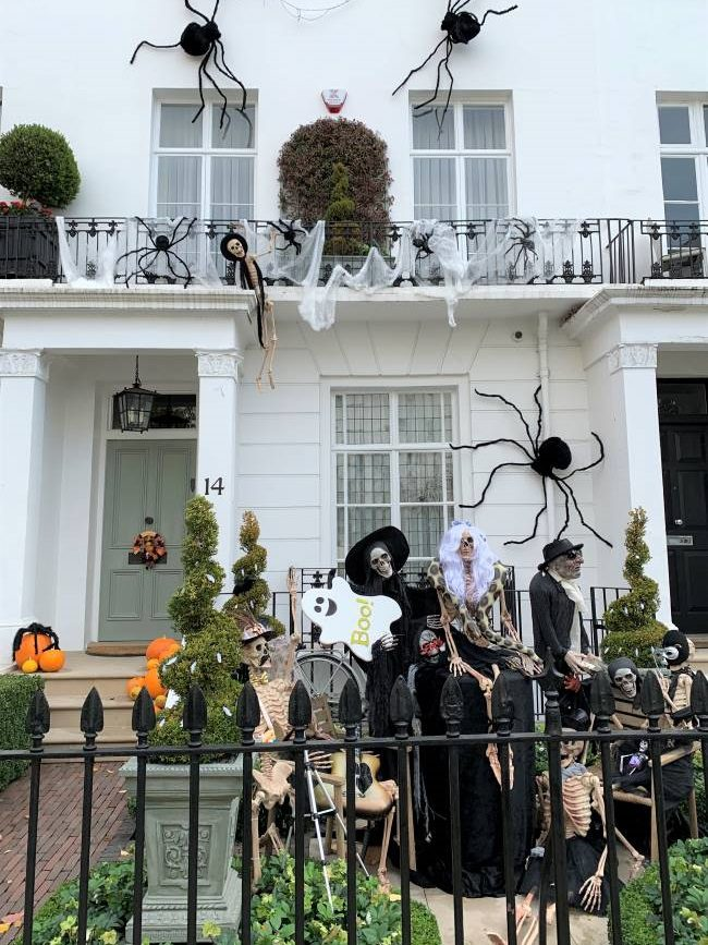 Knightsbridge Halloween decorations