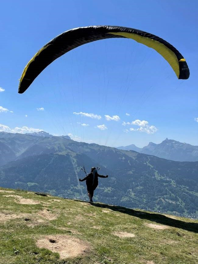 Paragliding from La Bourgeoise, France