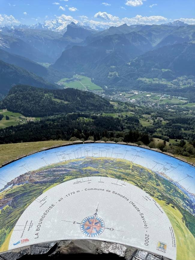 The Alps in France - View from La Bourgeoise