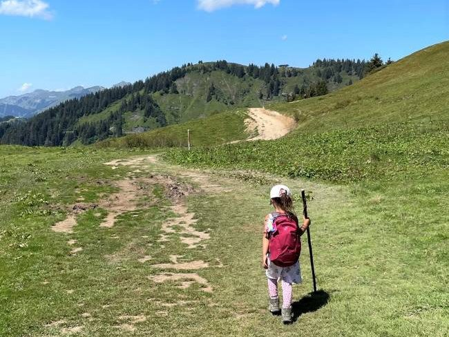 Hiking with kids in the Alps