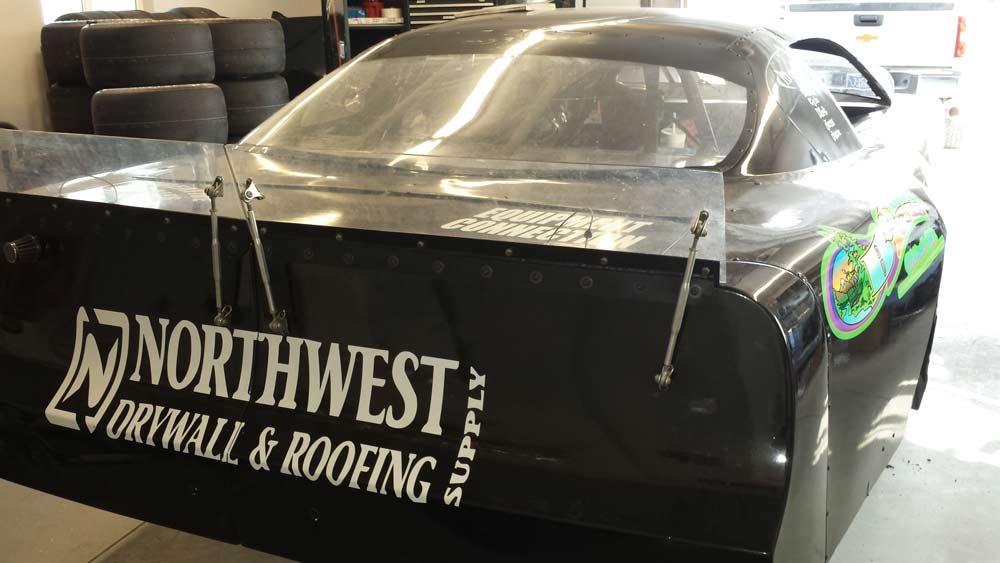 Northwest Drywall & Roofing Supply Sponsorship of Brandon Sickler Race Car