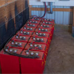 Barn Solar Installation Battery Pack
