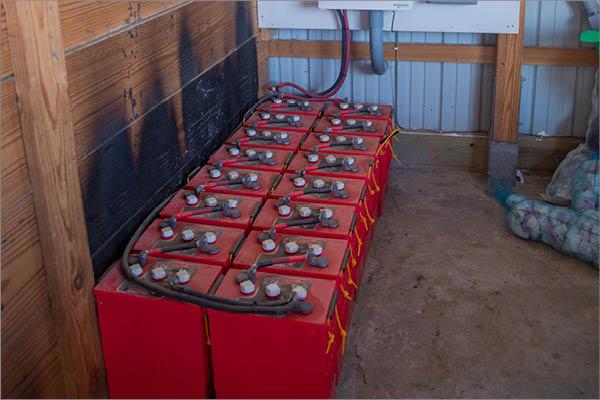 Barn Solar Installation Battery Pack