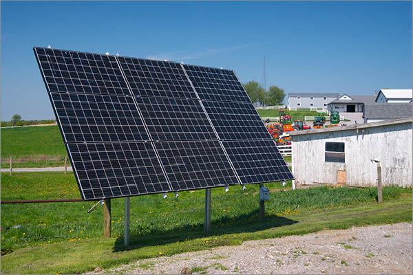 Self Standing Residential Solar Installation