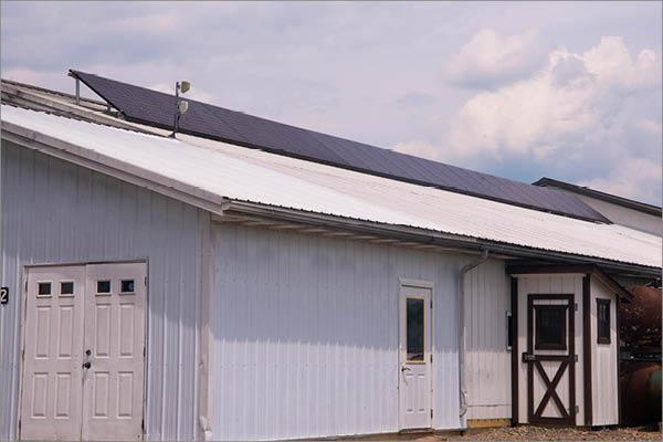 Commercial Solar Installation - Finishing Shop