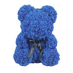 Big Blue Rosette Bear