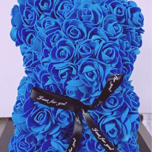 Rosette Bear Blue Color - 25 CM