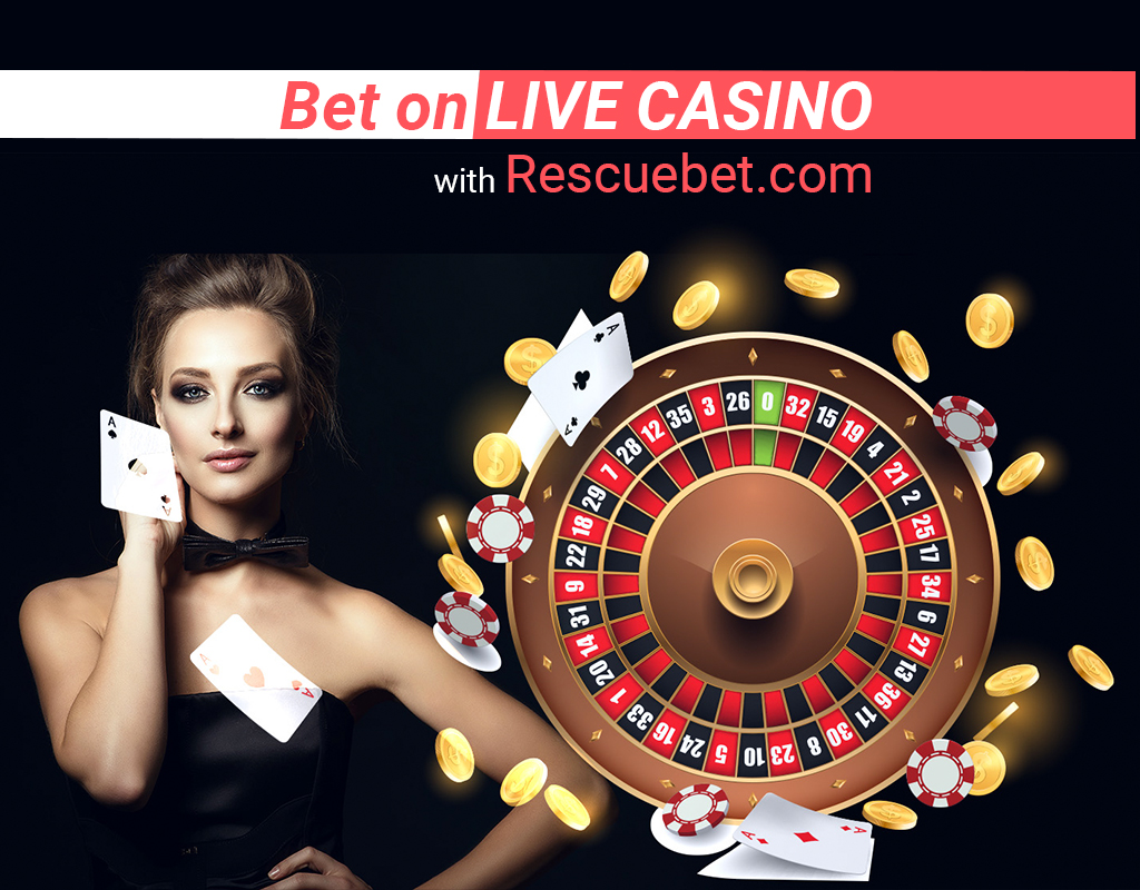 Bet on live casino with Rescuebet.com