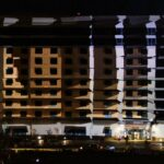 Wildhorse Projection Mapping on Exterior of Building Transformation