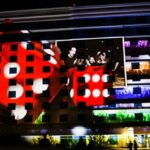 Wildhorse Projection Mapping on Exterior of Building Rolling Dice