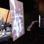Epson InfoComm Robotic Arm and Projection Mapping Booth Experience Close Up of Panel