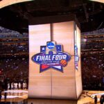 NCAA Final Hour Engagement Projection Mapping Scrim Half Time Show