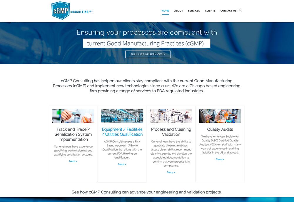 cGMP Consulting website