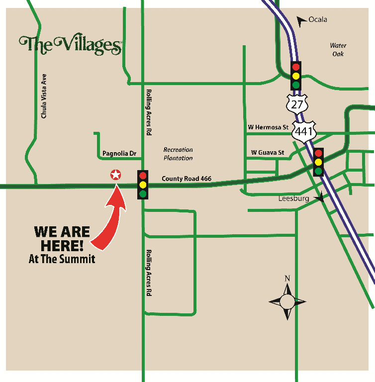 Map to Saunders Prosthetics and Orthotics Group in the Villages of Lady Lake, FL