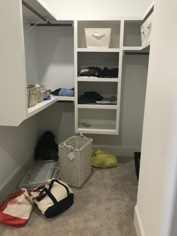 White closet before