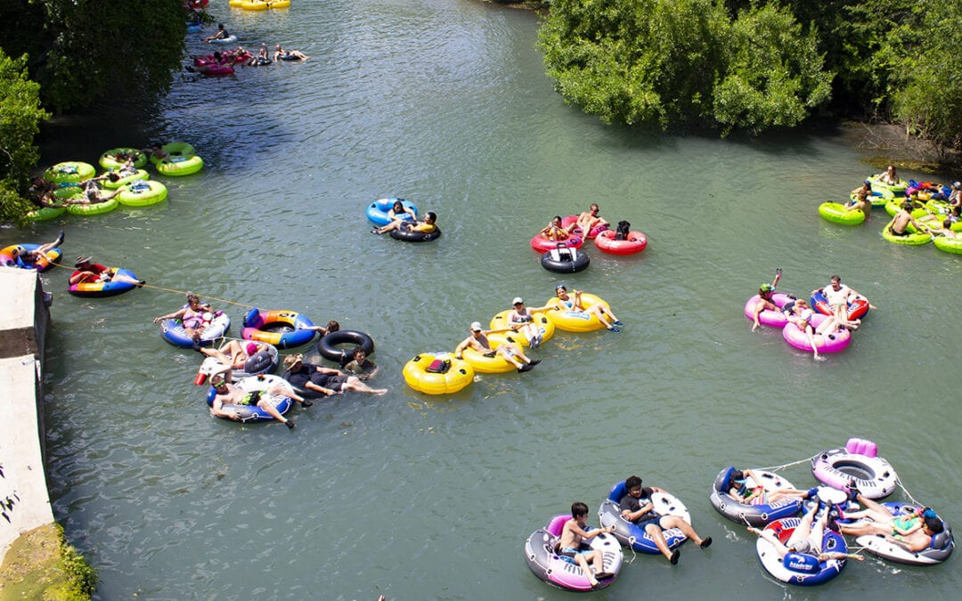 Tubing season is officially underway in New Braunfels, TX