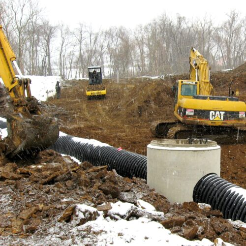 Utility Site Work Construction - Sewer & Water