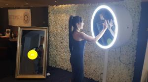 Silver Frame Mirror & Round Mirror