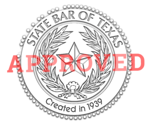 Our Online Classes are Texas State Bar Approved for CLE's and CE's