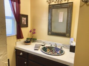 The vanity in Suite 8