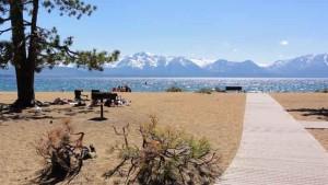 Bike paths and bike trails to Nevada Beach Lake Tahoe