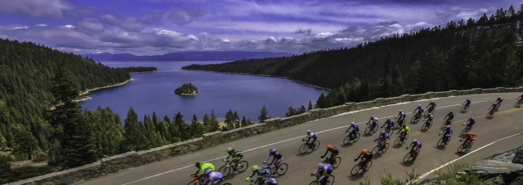 Cycling Events Amgen Tour of California at Lake Tahoe Emerald Bay