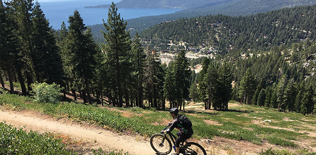 incline flume mountain bike trail lake tahoe